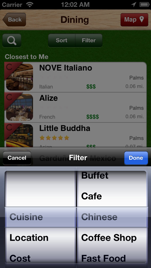 Easy food finder